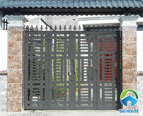 gạch dán cột hàng rào