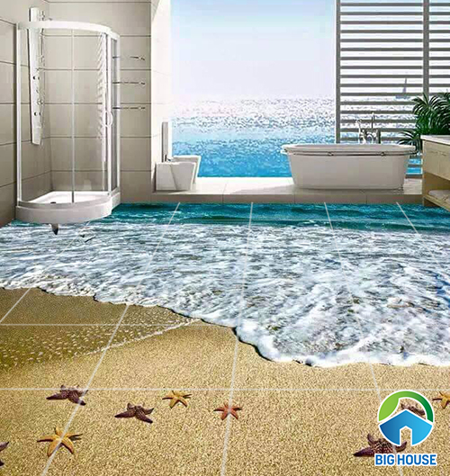 Có nên sử dụng gạch lát nền nhà tắm 3D không? Giải đáp từ Chuyên Gia