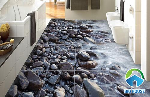 gạch lát nền nhà vệ sinh 3d