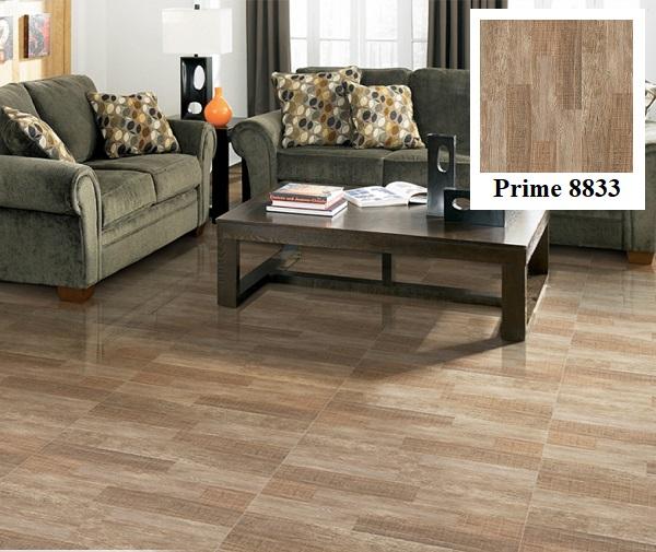 Gạch lát nền giả gỗ Prime 8833 phù hợp với những không gian mang phong cách ấm áp và gần gũi
