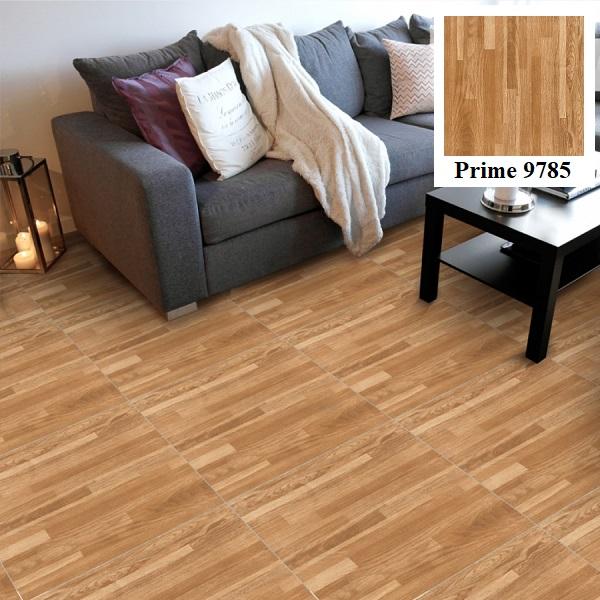 Mẫu gạch Prime 9785 vân gỗ màu sáng phù hợp cho những không gian hiện đại