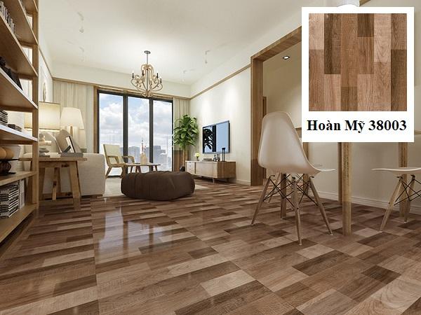 Sử dụng mẫu gạch lát nền phòng khách nhà ống Hoàn Mỹ 38003 cho không gian sống của bạn