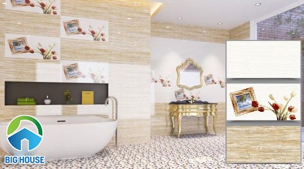 Gạch ốp tường nhà tắm vân gỗ CMC