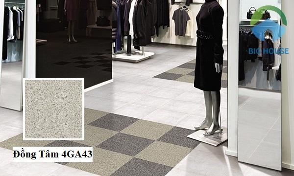 Đồng Tâm 4GA43 với tone màu ghi nhạt vân đá lát nền caro rất độc đáo