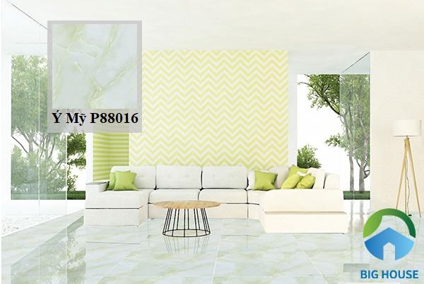 Mang đến vẻ đẹp tươi mát, thoáng đãng cho không gian, bạn có thể tham khảo gạch Ý Mỹ P88016 màu xanh ngọc bích