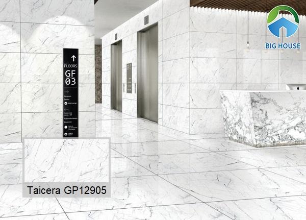 Hay bạn cũng có thể lựa chọn mẫu gạch Taicera GP12905 vân đá marble màu trắng ốp lát mang vẻ đẹp sang trọng và hiện đại