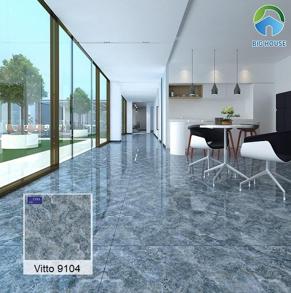 Vitto 9104 với họa tiết vân đá chân thực tạo không gian sống động