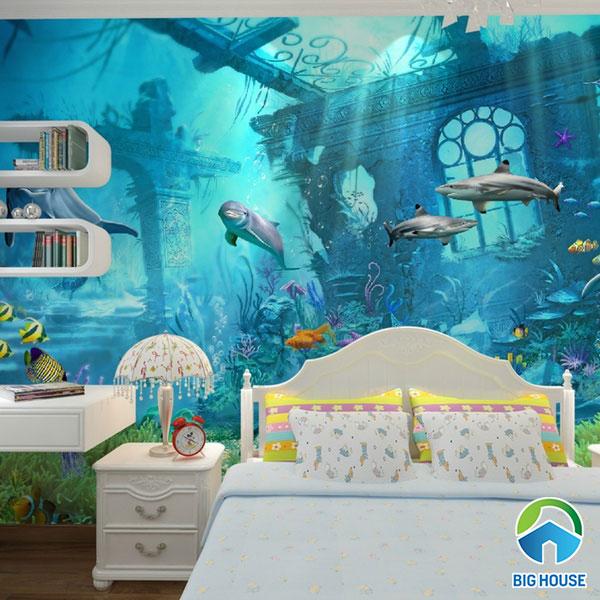 gạch ốp tường phòng ngủ 3d 2