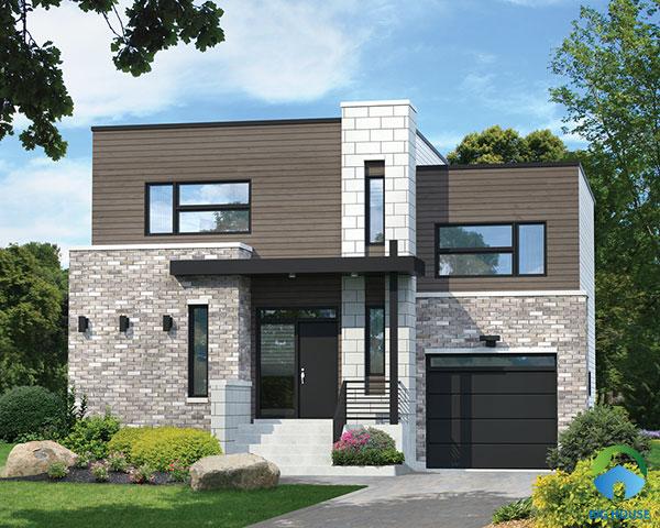 Mẫu gạch giả đá với gam màu xám trắng, bề mặt gồ ghề mang một vẻ đẹp khác biệt cho ngôi nhà của bạn