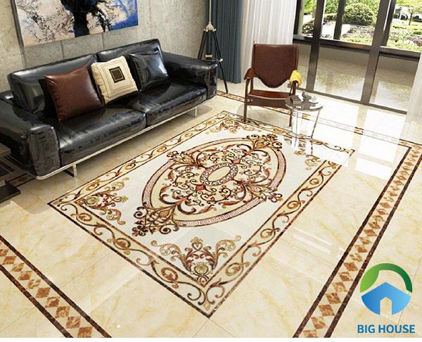 Gợi ý mẫu gạch lát thảm cho phòng khách rất được ưa chuộng hiện nay