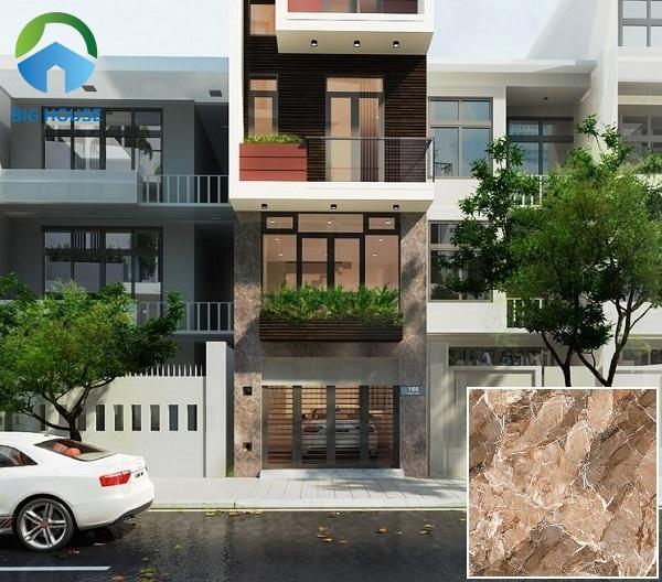 Gạch Prime 03.600600.09156 có kích thước 60x60 phù hợp ốp mặt tiền tầng 1 nhà phố. Xương gạch làm từ chất liệu porcelain rất cứng chắc, chống hút nước tốt