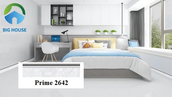 Sử dụng gạch Prime 2642 ốp chân tường phòng ngủ mang phong cách hiện đại