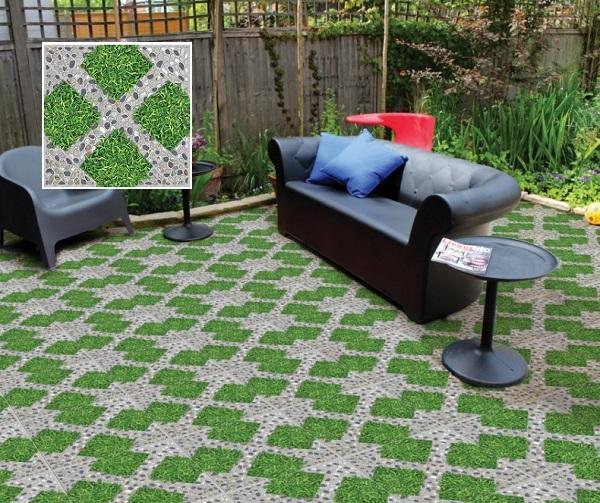 Sân nhà bạn mát mẻ hơn nhờ mẫu gạch Prime 9533 họa tiết những khối cỏ tràn đầy sức sống