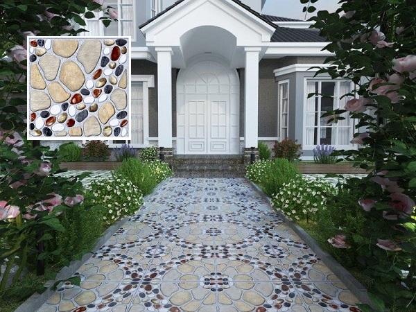 Gạch Viglacera 5505 cũng là một sự lựa chọn không tồi lát sân vườn nhà bạn
