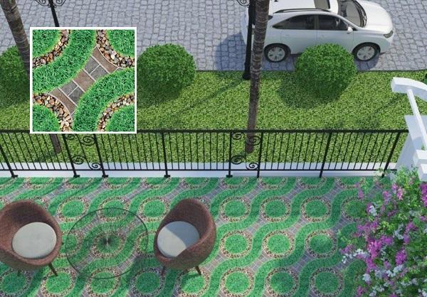 Tô điểm cho sân nhà bạn xanh mát với mẫu gạch Viglacera 5521